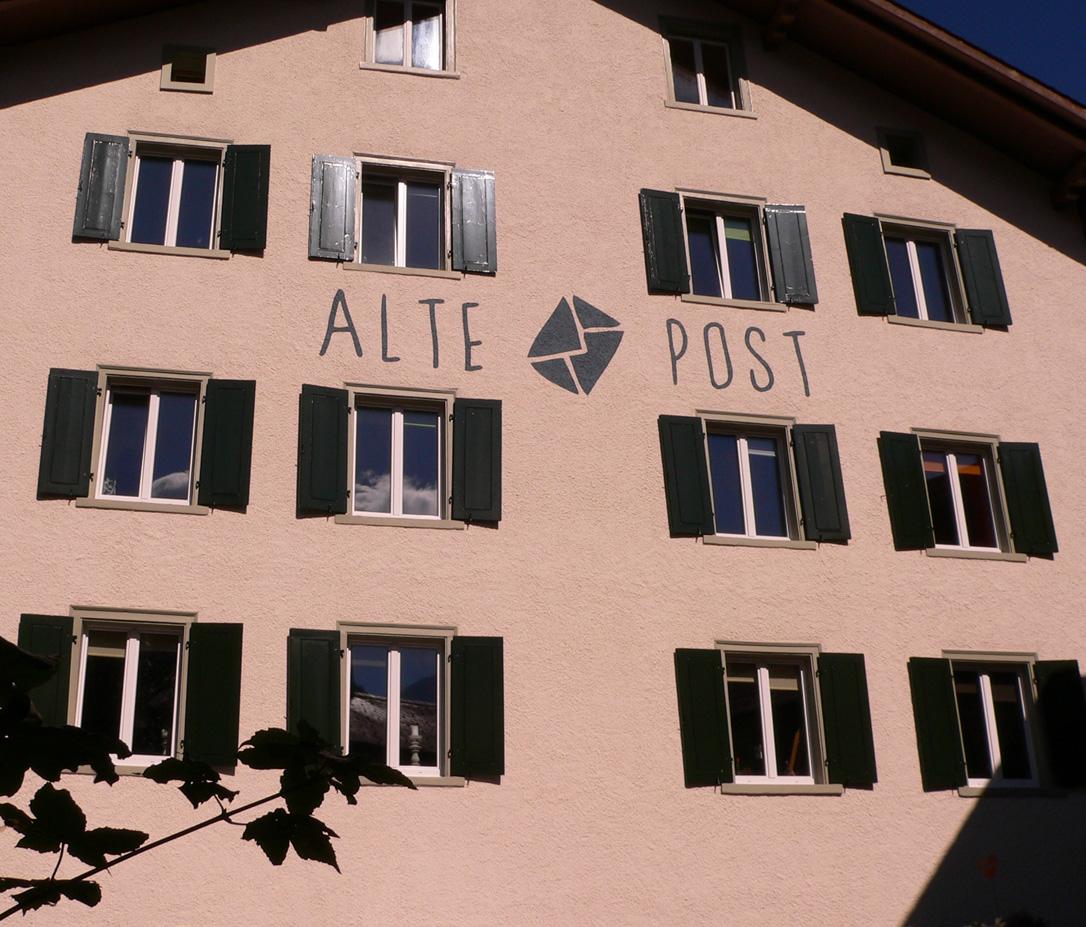 Alte Post Langwies Fassade